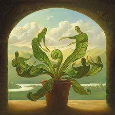 """Miracle of Birth"" by Vladimir Kush Surrealismo / Surrealism Vladimir Kush, Surrealism Painting, Pop Surrealism, Artist Painting, Magritte, Wassily Kandinsky, Magic Realism, Sacred Art, Les Oeuvres"