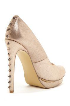 rose gold spiked heel