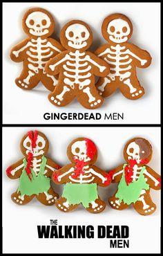 #Walking #Dead #Gingerdead Men #Halloween snacks
