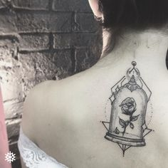 "1,581 Likes, 76 Comments - @GOLDFAMILYCUSTOMTATTOOS (@allantattooer) on Instagram: ""Quem gosta de tattoos da Disney ai? Redoma da Bela e a Fera (Bell Jar of Beauty and the Beast) ♡ ❅…"""