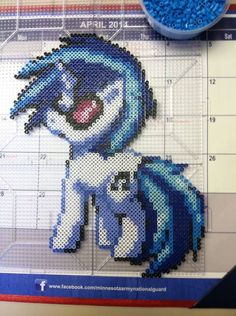 MLP DJ pony Perler beads by Khoriana on deviantART