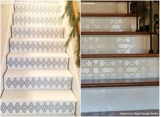 Stenciled Stair Risers | Stenciled Stair Risers | Dream Home | Handpainted  Stairs | Pinterest | Stenciled Stairs, Staircases And House