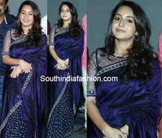 bhama in mirror work saree - Google Search