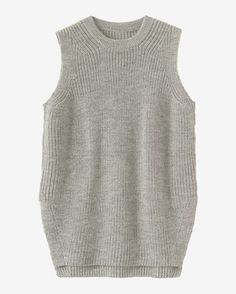 Women's Fisherman Rib Wool Vest