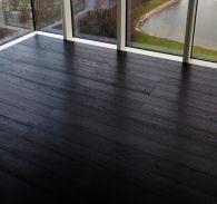 Brushed Dark Oak Floors | The Solid Wood Flooring Company Wood Flooring Company, Solid Wood Flooring, Oak Flooring, Hardwood Floors, Dark, Oak Wood Flooring, Wood Floor Tiles, Wood Flooring, Darkness
