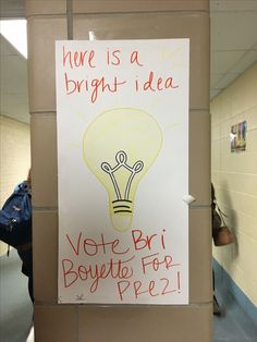 Student Council Poster Idea Campaigning