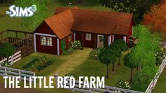Sims 3 House Building - (Starter House) Little Red Farm