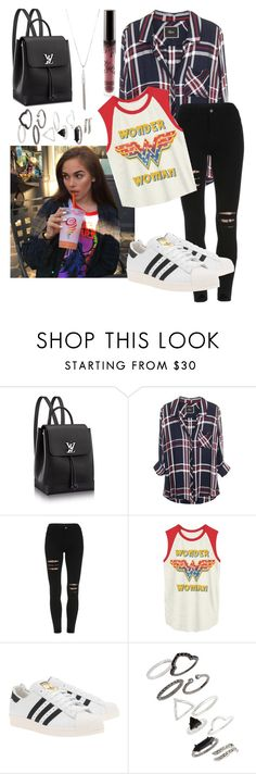 """""""Maggie Lindemann Inspired"""" by cemeteryflowers ❤ liked on Polyvore featuring Junk Food Clothing, adidas Originals and Topshop"""