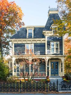 This stunning Victorian home is found just outside of Boston // #curbappeal // http://www.hgtv.com/design/outdoor-design/landscaping-and-hardscaping/copy-the-curb-appeal-newton-massachusetts-pictures?soc=pinterest