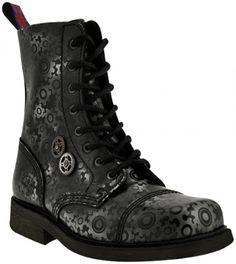 Boots NEVERMIND - 8 Holes Roldanas - http://rockagogo.com