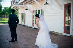 just before our first look Photo credit: roxydelatorrephotography.com  Byron Colby Barn