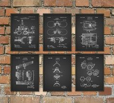 Optometry Patent Print Set Of 6 Optometrist Patent