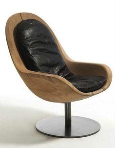 Reclaimed wood rustic chair