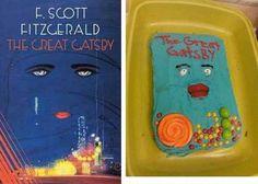 Portada del Gran Gatsby en tarta