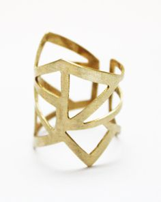 Geometric cut out ring