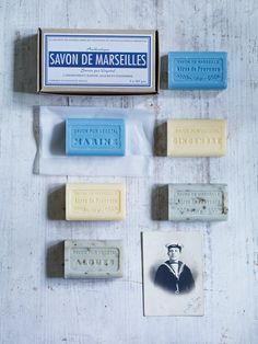 Three 'Savon de Marseille' Soaps