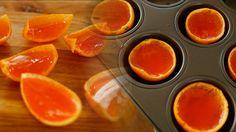 Clementines Aperol Spritz jello shots.