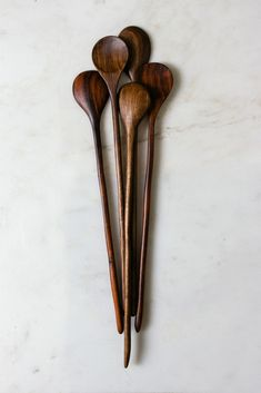 Long stemmed stir spoon by Board & Bread. - I already have a basic spoon and a frosting knife, but I don't have a tasting spoon yet. Carved Spoons, Ceramic Spoons, Chaise Vintage, Wood Spoon, Wooden Kitchen, Kitchen Utensils, Kitchen Items, Kitchen Stuff, Kitchen Tools