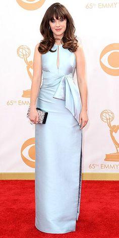 Emmy Awards 2013 - Zooey Deschanel in J. Mendel