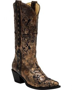 Corral Women's Studded Strap Cowgirl Boots - Snip Toe