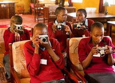 Photo by @stephsinclairpix // My amazing students try out their cameras for the first time! Along with being a National Geographic photographer I also run the nonprofit @tooyoungtowed and we are currently in #Samburu County #Kenya - where child marriage is prevalent - to teach our first Adolescent Girls Photography Workshop in collaboration with the Samburu Girls Foundation (SGF) who rescued all our students from child marriages. This week we are helping the girls weve come to know and love…