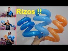 como rizar globos largos - globoflexia facil - rizado de globos 260 - rizos o espiral con globos - YouTube