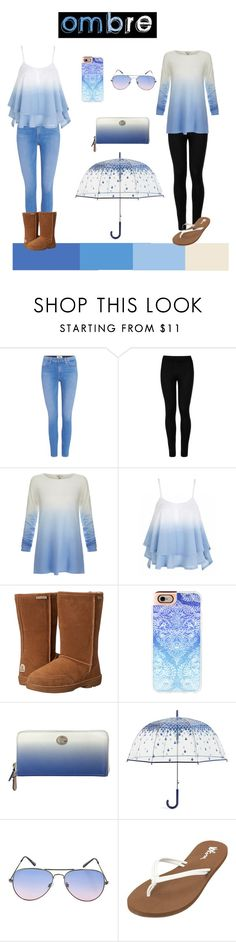 """""""Ombre Style"""" by aelenhoff ❤ liked on Polyvore featuring Paige Denim, Wolford, Joie, Bearpaw, Casetify, Coach, Vera Bradley, Volcom and ombre"""