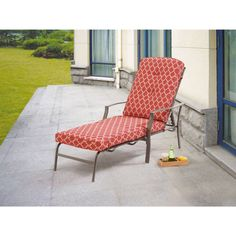 Pool Chaise Lounge Adjustable Chair Outdoor Patio Furniture PE Wicker W/Cushion #Mainstays