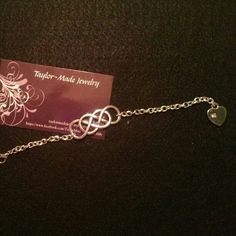 Double infinity knot bracelet with heart ;)