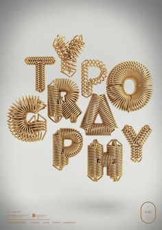 3D Typographic Artworks by Peter Tarka More of the 3D typographic artworks on WE AND THE COLOR.