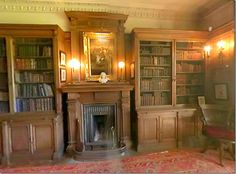 The library at Hunterston House becomes the guest room at Reverend Wakefield's Priory.  Above is how the library really looks.