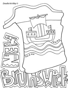 Canadian province colouring pages.