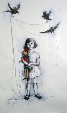 "Saatchi Art Artist J M Culver; Painting, ""Attachment"" #art"