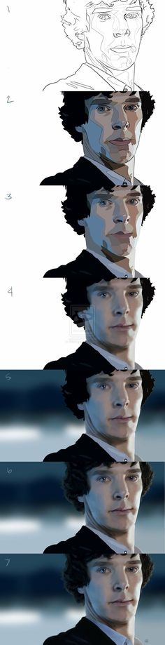 Sherlock - Step by step by KStarrLynn ★ Find more at http://www.pinterest.com/competing