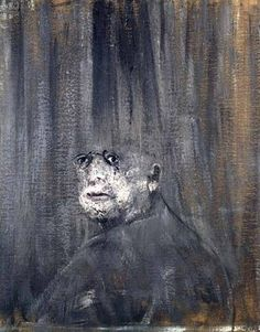 Francis Bacon, self portrait. (1909 – 1992) was an Irish-born British figurative painter known for his bold, graphic and emotionally raw imagery.