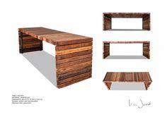 http://www.vanjoost.com/  TABLE 'BALKEN'  MATERIAL: HARDWOOD  DIMENSION: 250 X 72 X 76 CM (L X B X H)  DESIGN: JOOST VAN VELDHUIZEN  PRODUCTION: VANJOOST