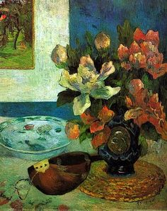 """Still Life with a Mandolin"" -- 1885 -- Paul Gauguin -- French -- Oil on canvas -- Musée d'Orsay -- Paris, France"