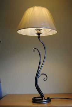 Belltrees Forge contemporary wrought iron table lamp Fern Lamp