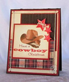 Cowboy Christmas! by Connie McCotter. Stamps from Kitchen Sink Stamps.