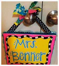39 best name signs images on pinterest teacher appreciation gifts