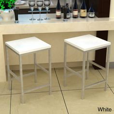 Carson White 24-inch Stool   Overstock.com Shopping - Great Deals on Bar Stools