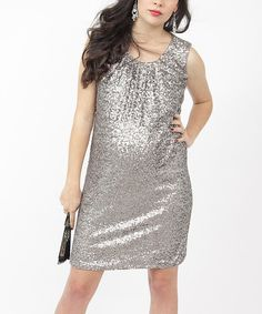 Take a look at this EGG Antique Gold Maternity Dress on zulily today!