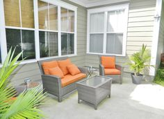 A back patio perfect for Florida weather in this beautiful Tallahassee home.