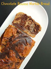 Krithi's Kitchen: Chocolate Banana Marble Bread - Eggless | Muffins and Quick Bread Recipes