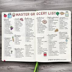 30 Bullet Journal Ideas for May You Can Copy - Its Claudia G - - Here are 30 Bujo spread ideas for May you must try! Use your bullet journal to increase your productivity. These are the best May Bujo spread ideas! List Of Bullet Journal Pages, Bullet Journal Planner, How To Bullet Journal, Bullet Journal Writing, Bullet Journal Inspo, Bullet Journal Spread, Bullet Journal Grocery List, Bullet Journals, Food Journal