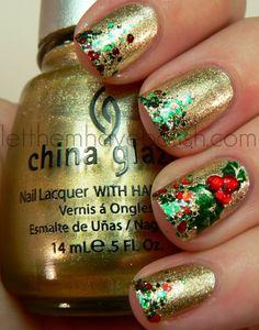 unas decoradas de navidad (7)
