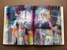 journal pages in progress - by bun - artist: roxanne coble