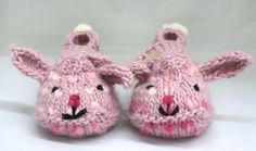 Bunny Hop Slippers pattern.  Free download