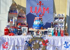 Nautical Birthday Party Ideas | Photo 8 of 15 | Catch My Party
