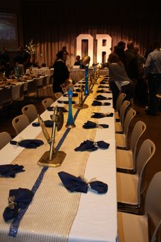 Football Banquet, Decor, Stage Decor, Players Table for Football Banquet